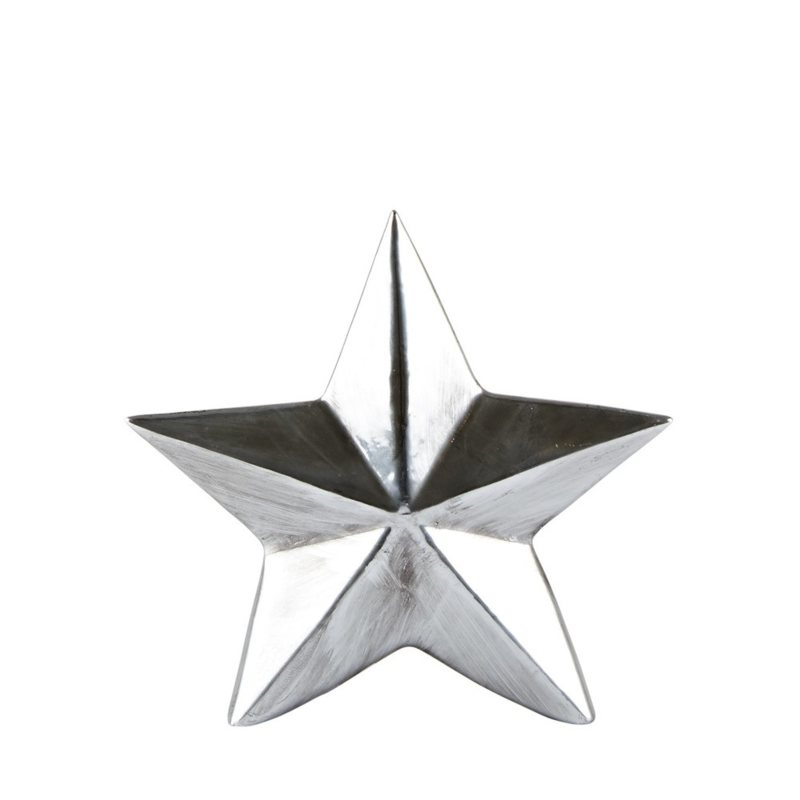Dekoratívna soška KJ Collection Star Silver, 14 cm