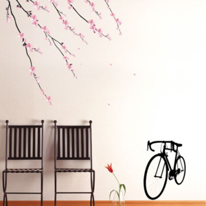 Samolepka Ambiance Flowers and Bicycle