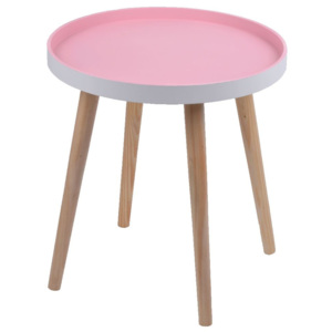 Ružový stolík Ewax Simple Table, 38 cm