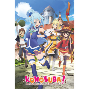Plagát, Obraz - KonoSuba: God's Blessing on This Wonderful World! - Key Art, (61 x 91,5 cm)
