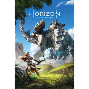 Plagát, Obraz - Horizon Zero Dawn - Key Art, (61 x 91,5 cm)