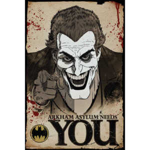 Plagát, Obraz - Batman Comic - Joker Needs You, (61 x 91,5 cm)