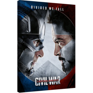 Obraz na plátne Captain America: Civil War - Face off, (60 x 80 cm)