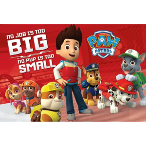 Plagát, Obraz - Paw Patrol - No Pup Is Too Small, (91,5 x 61 cm)