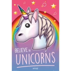 Plagát, Obraz - Emoji - Believe in Unicorns, (61 x 91,5 cm)