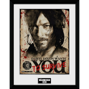 Rámovaný Obraz - The Walking Dead - Daryl Needs You