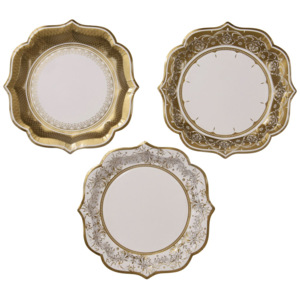 Papierové tanieriky Party Porcelain Medium - set 12 ks
