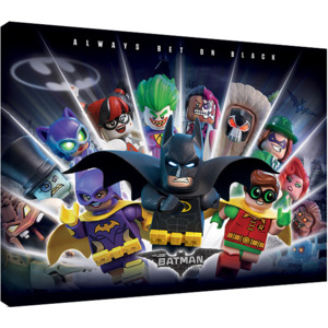 Obraz na plátne LEGO® Batman - Always Bet On Black, (80 x 60 cm)