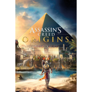Plagát, Obraz - Assassins Creed: Origins - Cover, (61 x 91,5 cm)