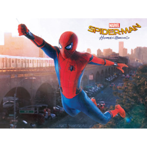 Obraz na plátne Spider-Man Homecoming - Swing, (60 x 80 cm)