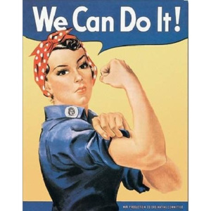 Plechová ceduľa ROSIE THE RIVETOR - we can do it, (32 x 41 cm)