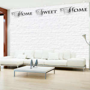 Fototapeta - Home, sweet home - white wall 200x140 cm