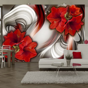 Fototapeta - Amaryllis - Ballad of the Red 100x70 cm