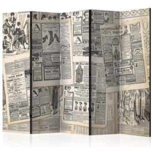 Paraván - Vintage Newspapers II [Room Dividers] 225x172