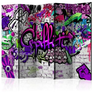 Paraván - Purple Graffiti [Room Dividers] 225x172