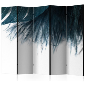 Paraván - Dark Blue Feather II [Room Dividers] 225x172