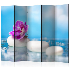 Paraván - Pink Orchid and white Zen Stones II [Room Dividers] 225x172