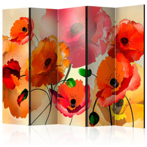 Paraván - Velvet Poppies II [Room Dividers] 225x172