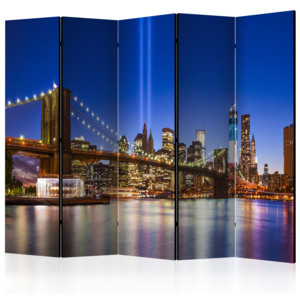 Paraván - Blue New York II [Room Dividers] 225x172