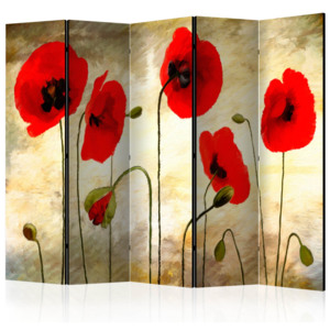 Paraván - Golden Field of Poppies II [Room Dividers] 225x172