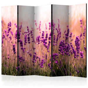 Paraván - Lavender in the Rain II [Room Dividers] 225x172