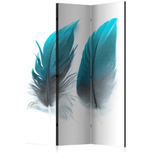 Paraván - Blue Feathers [Room Dividers] 135x172
