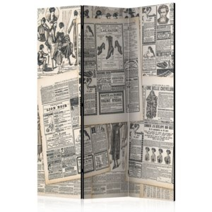 Paraván - Vintage Newspapers [Room Dividers] 135x172