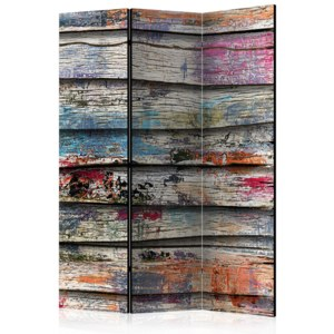 Paraván - Colourful Wood [Room Dividers] 135x172