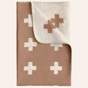 Deka Cross Blanket Camel 150x250