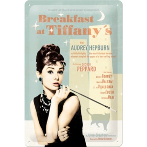Nostalgic Art Plechová ceduľa: Breakfast at Tiffanys - 20x30 cm
