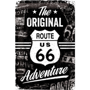 Nostalgic Art Plechová ceduľa: Route 66 (The Original Adventure) - 20x30 cm
