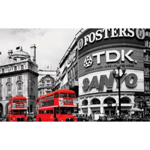 Fotoobraz - Piccadilly Circus london red buses