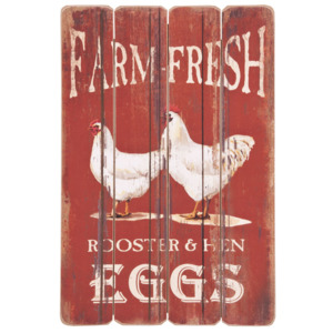 Ceduľa Farm fresh eggs - 40*1*60 cm