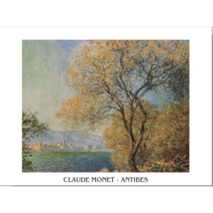 Reprodukce, Obraz - Antibes in the Morning - Morning at Antibes, Claude Monet, (30 x 24 cm)