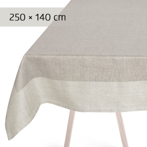 GEORG JENSEN DAMASK Obrus grey 250 × 140 cm PLAIN