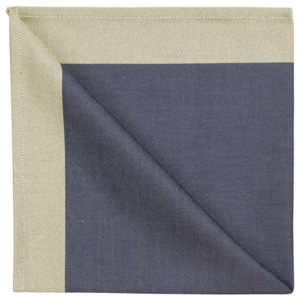 GEORG JENSEN DAMASK Obrúsok blue gold 50 × 50 cm
