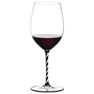 Riedel Pohár Cabernet/Merlot Black and White Twisted Fatto a Mano