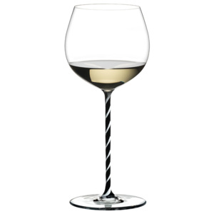 Riedel Pohár Oaked Chardonnay Black and White Twisted Fatto a Mano