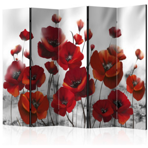 Paraván - Poppies in the Moonlight II [Room Dividers] 225x172 7-10 dní