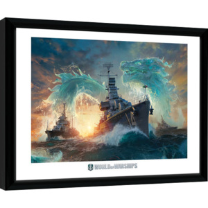 Rámovaný Obraz - World Of Warships - Dragons