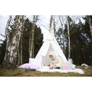 Vigvam design Teepee Dots & Rainbow Colors - štvorcové