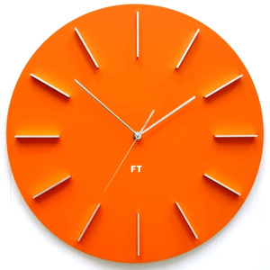 Dizajnové nástenné hodiny Future Time FT2010OR Round orange 40cm