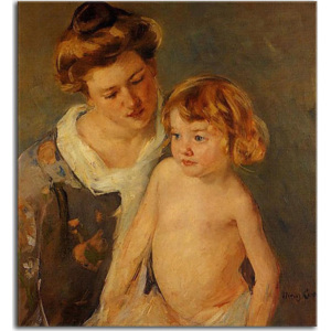 Jules Standing by His Mother obraz zs17633