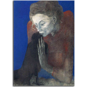 Obrazy Picasso - Woman with raven zs17902