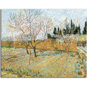 Vincent van Gogh obraz - Orchard with Peach Trees in Blossom zs18426