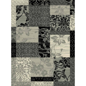 Hanse Home Collection koberce Kusový koberec Prime Pile 102291 Patchwork Optik Bordüre Grau Creme Schwarz - - 60x110 -