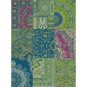Hanse Home Collection koberce Kusový koberec Prime Pile 101191 Patchwork Optik Grün/Blau - - 80x150 -