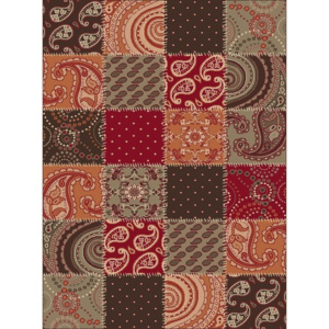 Hanse Home Collection koberce Kusový koberec Prime Pile 101091 Patchwork Optik Terra/Braun/Rot - - 60x110 -