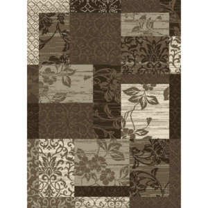Hanse Home Collection koberce akcia: 60x110 cm Kusový koberec Prime Pile 102292 Patchwork Optik Bordüre Beige Braun Creme - - 60x110 -