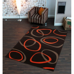 Hanse Home Collection koberce Kusový koberec Prime Pile 102189 Loop Braun Orange - - 120x170 -